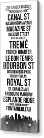Streets Of New Orleans 3 Acrylic Print by Naxart Studio