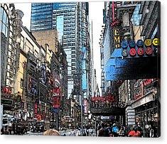Streets Of New York City 6 Acrylic Print by Mario Perez