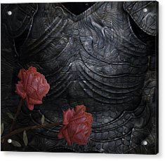 Strength Of A Rose Acrylic Print by Jack Zulli