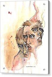 Stress Anxiety Depression Acrylic Print by John Ashton Golden