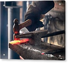 Strike While The Iron Is Hot Acrylic Print by Trever Miller