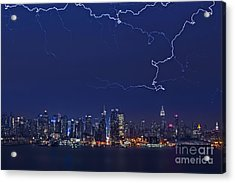 Strikes And Bolts In Nyc Acrylic Print by Susan Candelario