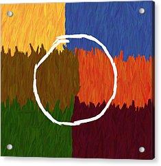 Strokes Of Colour Acrylic Print by Condor