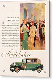 Studebaker 1929 1920s Usa Cc Cars Acrylic Print by The Advertising Archives
