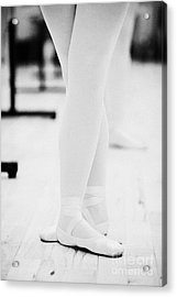 Students With Feet In The Third Position At A Ballet School In The Uk Acrylic Print by Joe Fox