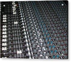 Studio Sound Mixing Board Acrylic Print by Mountain Dreams