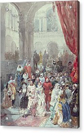 Study For A Costume Ball Given By The Princess Of Sagan Acrylic Print by Eugene-Louis Lami