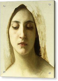 Study For La Charite Acrylic Print by William-Adolphe Bouguereau