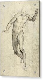 Study For The Last Judgement  Acrylic Print by Michelangelo  Buonarroti