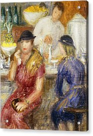 Study For The Soda Fountain Acrylic Print by William James Glackens