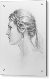 Study In Profile Acrylic Print by Sarah Parks