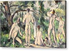 Study Of Bathers Acrylic Print by Paul Cezanne