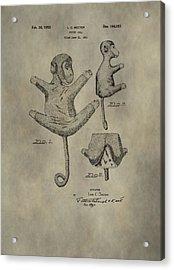 Stuffed Monkey Patent Acrylic Print by Dan Sproul