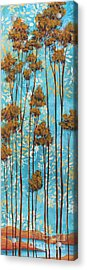 Stunning Abstract Landscape Elegant Trees Floating Dreams II By Megan Duncanson Acrylic Print by Megan Duncanson