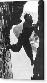 Stuntman Luciano Albertini Acrylic Print by Underwood Archives