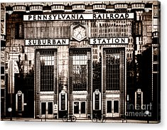 Suburban Station Acrylic Print by Olivier Le Queinec
