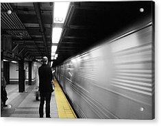 Subway Acrylic Print by Enrique  Coloma