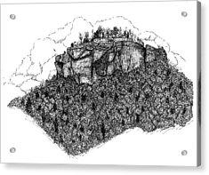 Sugar Loaf Mtn. Heber Springs Ar. Acrylic Print by Lee Halbrook