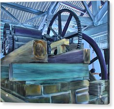 Sugar Mill Gizmo Acrylic Print by Deborah Boyd