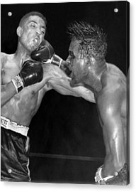 Sugar Ray Throws A  Right Acrylic Print by Underwood Archives