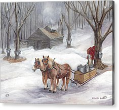 Sugaring Time Again Acrylic Print by Gregory Karas