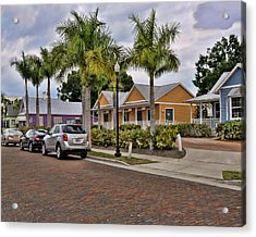 Sullivan Street Acrylic Print by Sandy Poore