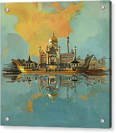 Sultan Omar Ali Saifuddin Mosque Acrylic Print by Corporate Art Task Force
