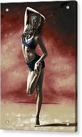 Sultry Dancer Acrylic Print by Richard Young