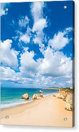 Summer Beach Algarve Portugal Acrylic Print by Amanda Elwell
