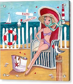 Summer Beach  Acrylic Print by Caroline Bonne-Muller