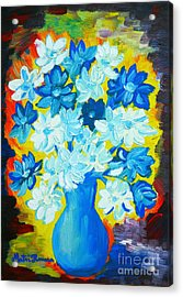 Summer Daisies Acrylic Print by Ramona Matei