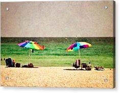 Summer Days At The Beach Acrylic Print by Scott Pellegrin