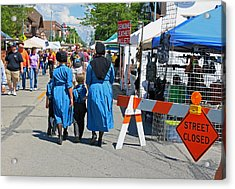 Summer Festival In Berne Indiana II Acrylic Print by Suzanne Gaff