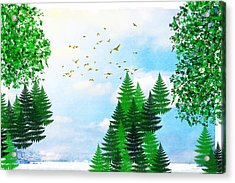 Summer Four Seasons Art Series Acrylic Print by Christina Rollo
