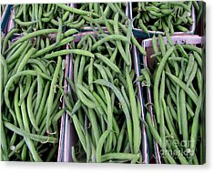 Summer Green Beans Acrylic Print by Kathie McCurdy