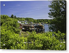 Summer In South Bristol On The Coast Of Maine Acrylic Print by Keith Webber Jr