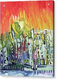Summer In The City Acrylic Print by Kim Chigi