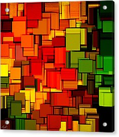 Summer Modern Abstract Art Xviii Acrylic Print by Lourry Legarde