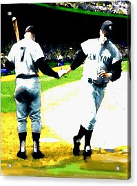 Summer Of The Gods  Iv 1961 Mickey Mantle Acrylic Print by Iconic Images Art Gallery David Pucciarelli