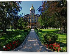 Summer On Notre Dame Campus Acrylic Print by Dan Sproul