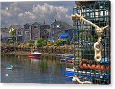 Summer On The Harbor Acrylic Print by Joann Vitali