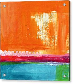 Summer Picnic- Colorful Abstract Art Acrylic Print by Linda Woods