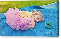 Summer Rest With Blueberries Acrylic Print by Valerie Garner