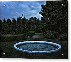 Summer Storm Coming Bahai Temple Acrylic Print by John Hansen