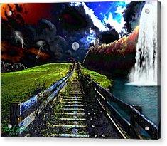 Summer Storm Acrylic Print by Michael Rucker