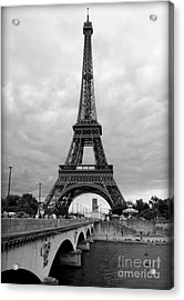 Summer Storm Over The Eiffel Tower Acrylic Print by Carol Groenen