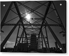 Summer Sun On Shelby Street Bridge Acrylic Print by Dan Sproul