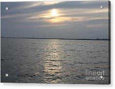 Summer Sunset Over Freeport Acrylic Print by John Telfer