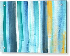 Summer Surf- Abstract Painting Acrylic Print by Linda Woods