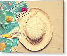 Summertime Postcards Acrylic Print by Amanda Elwell